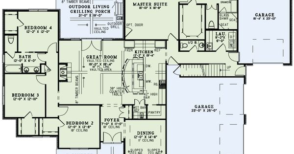 Craftsman european house plan 82230 level one house for Family home plans 82230
