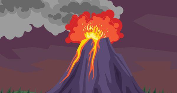 Vector Gratis Volcano Drawing Volcano Cartoon Drawings