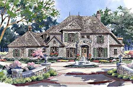 plan 5448lk rustic appeal french country house plans theater and french country