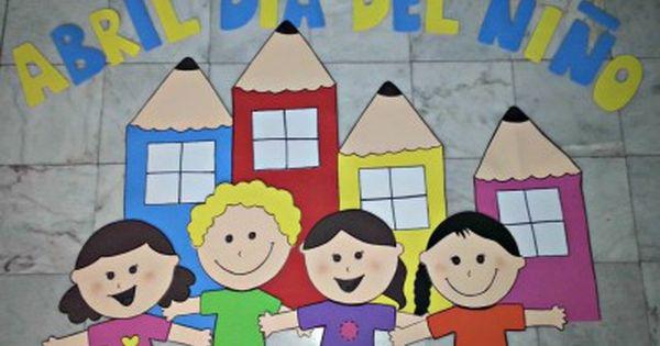 Periodico mural mes de abril 2 decoraci n de clase for Diario mural escolar