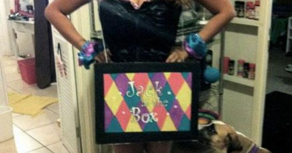 Halloween DIY: Jack-in-the-Box Costume idea @Kelsey A and @Merri Watkins ?