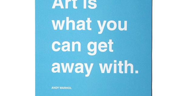 Quote Typography Artwork. Andy Warhol