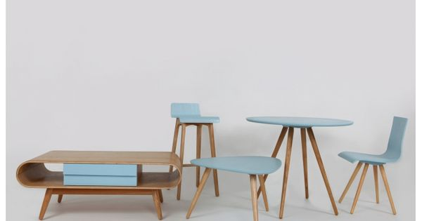 Tabouret chaise de bar design bois teint bleu for Chaise watford