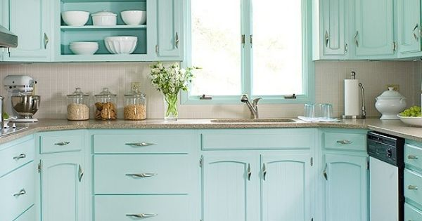 Cupboards Kitchen Pinterest Aqua Cabinets And Cupboards