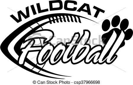Vector Wildcat Football Stock Illustration Royalty