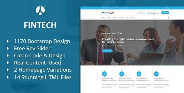Fintech Business Finance Corporate Html Template Business