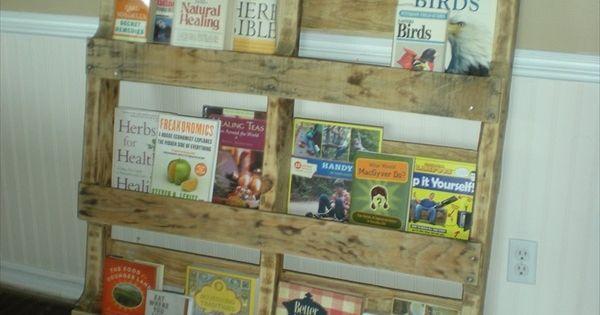 Classroom Bookcase Ideas : Wood pallet display crafts pinterest shelving