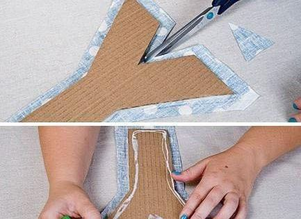 Diy Projects: Fabric and Cardboard Wall Letters DIY - I love this