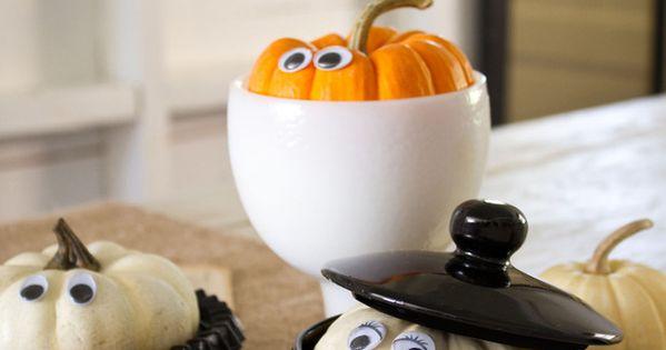 Peekaboo Pumpkins - Our 50 Favorite Halloween Decorating Ideas on HGTV