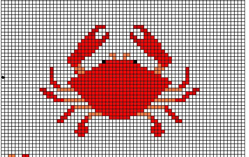 Crab cross stitch pattern by crawdadEmily.deviantart.com on @deviantART | Craft | Pinterest ...
