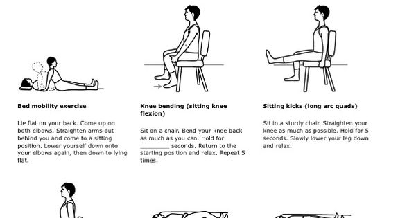 pre knee replacement exercises pdf