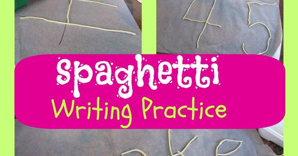 spaghetti writing practice