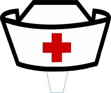 Robot Check Nurse Hat Nursing Cap Nurse Art