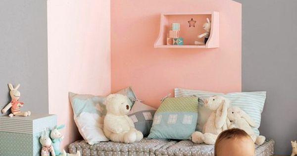 Babyzimmer w nde streichen wandfarben rosa und grau for Grau kombinieren wohnen