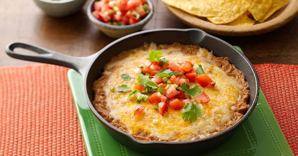 Easy Cheesy Bean Dip | Recipe | Bean Dip, Dips and For Friends