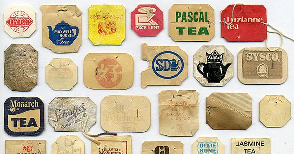 Tea bag tags.