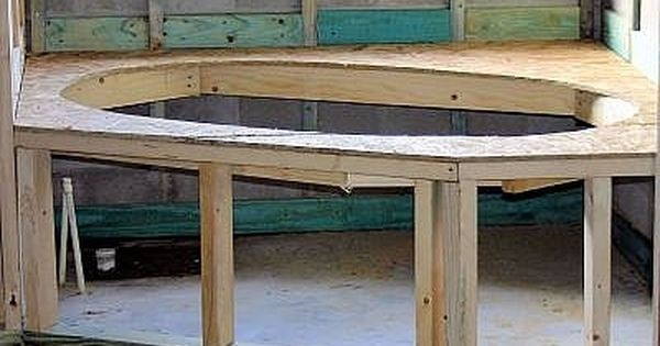 How To Build A Drop In Tub Deck Hot Tub Surround Tub Remodel Outdoor Bathtub