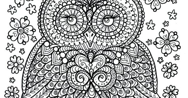 owl abstract coloring pages - photo#33
