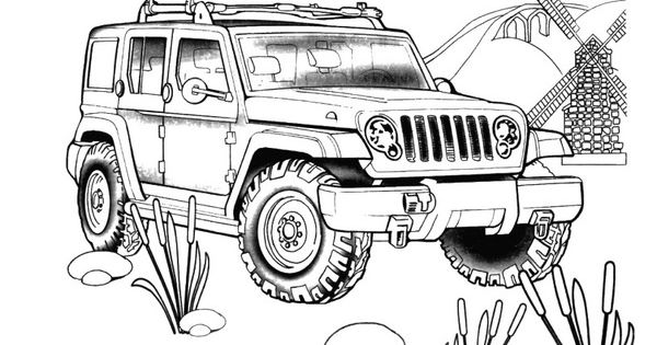 Wrangler Unlimited For The Jeep Coloring Book Jeep