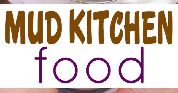 Mud Kitchen Food  어린이 공간, 어린이를 위한 공예 및 육아