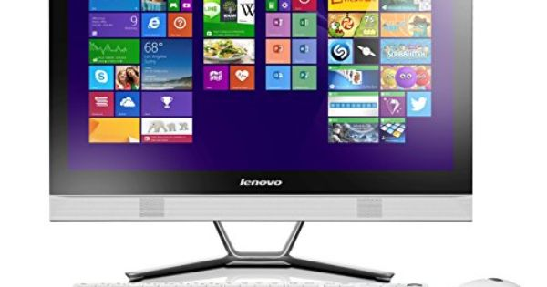 lenovo c50 30 ordinateur de bureau tout en un 23 blanc intel pentium 4 go de ram disque dur. Black Bedroom Furniture Sets. Home Design Ideas
