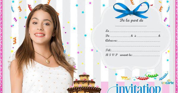 Invitation anniversaire c 39 est moi violetta disney - Carte violetta a imprimer ...