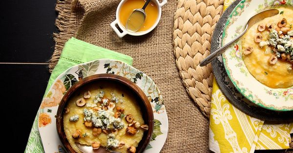 Blue cheese, Polenta and Honey on Pinterest