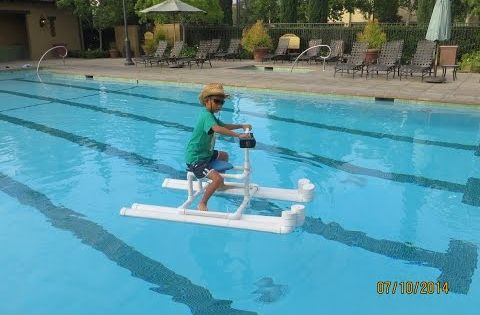 Hydrojet Powered Personal Pool Pontoon From Pvc Make