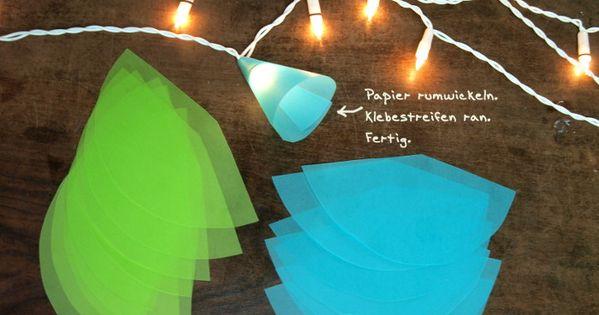 lichterkette was man braucht basteln mit kindern. Black Bedroom Furniture Sets. Home Design Ideas