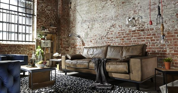 ledersofa dwayne vintage leder 2 5 sitzer im industriestil. Black Bedroom Furniture Sets. Home Design Ideas