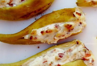 Grilled Stuffed Banana Peppers Stuffed Peppers Stuffed Banana Peppers Recipes With Banana Peppers