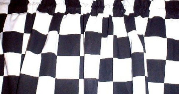 Window Curtain Valance Made From Nascar Checkered Flag Fabric Http Www Amazon Com Dp B0036qutom Ref Cm S Fabric Flags Valance Curtains Custom Made Curtains