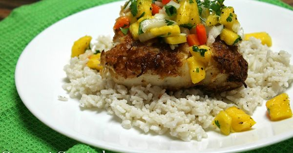 Coconut Crusted Cod with Pineapple Salsa and Coconut Rice | On The ...