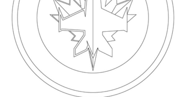 Winnipeg jets logo coloring page cakes decorating for Jets logo coloring page