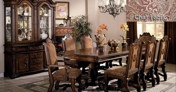 Neo renaissance formal dining room set 108 table for 108 inch dining room table