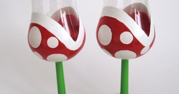 Mario wine glasses!
