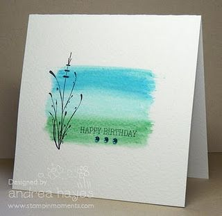 Beautiful Easy Card Using Water Color Pencils And Simple Stamps