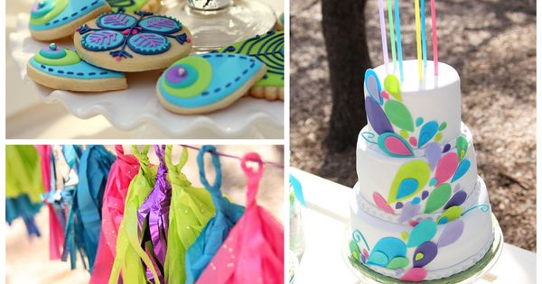 Peacock Birthday Party idea for haylee next year.