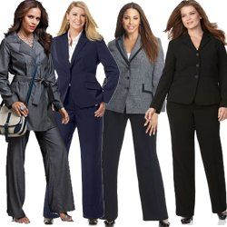 Women S Plus Size Pant Suits For Work
