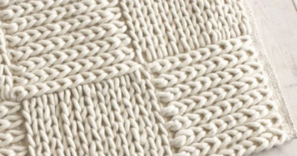 Slip Stitch Knit Squares Together : Medium Guernsey - Floor Rugs Loaf DIY deco   Pinterest Guernsey, Chun...