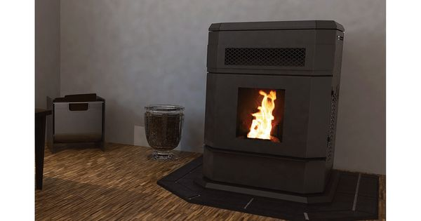 This Vogelzang Pellet Stove Features An Extra Large 120 Lb