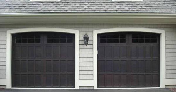 Garage Doors Wayne Dalton 16 Lite Arched Top In Walnut