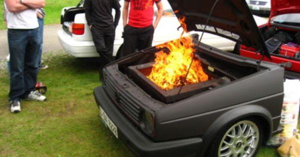 Vw Mk2 Golf Bbq Car Furniture Bbq Bbq Grills