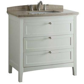 Norbury White Undermount Single Sink Bathroom Vanity With Engineered Stone Top Common 36 In Bathroom Vanity White Vanity Bathroom Single Sink Bathroom Vanity