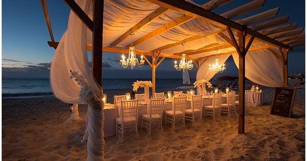 Wedding ● Tablescape & Reception Décor ● Beach Theme beach wedding ...