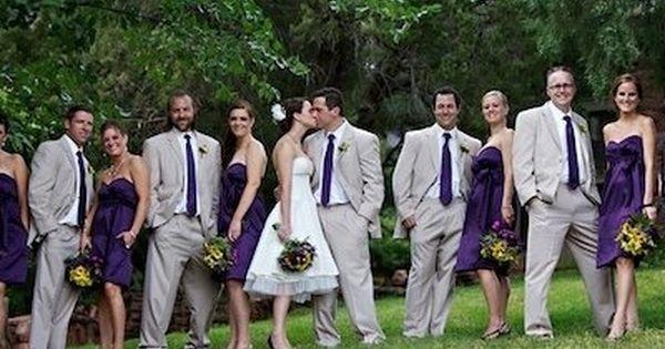Plum And Silver Wedding Ideas