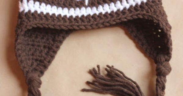Soft Shells Baby Earflap Hat Crochet Pattern : Repeat Crafter Me: Crochet Football Earflap Hat Pattern ...