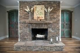 Image Result For Trim Around Stone Fireplace Fixer Upper Stacked Stone Fireplaces Farm House Living Room