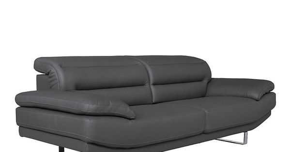 Canape Cuir Tetieres Relevables Firenze Pas Cher Canape Camif Canape Cuir Cuir Design Italien