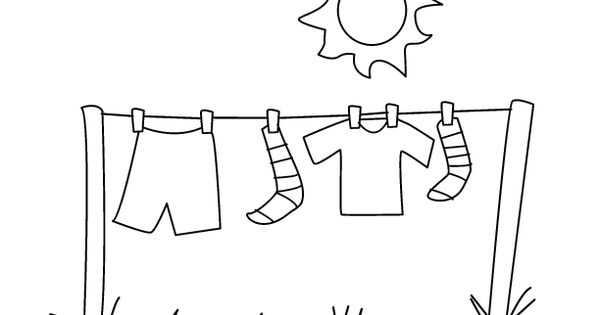 Laundry coloring page for the little ones pinterest for Laundry coloring pages